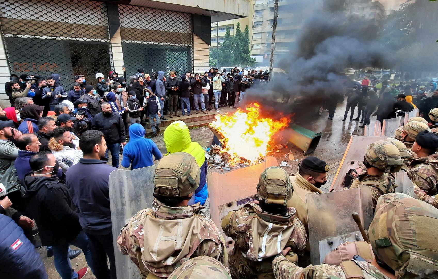 الاحتجاجات في طرابلس لليوم الرابع