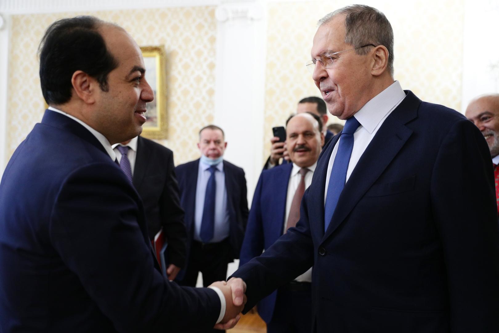 سيرغي لافروف يستقبل أحمد معيتيق في موسكو