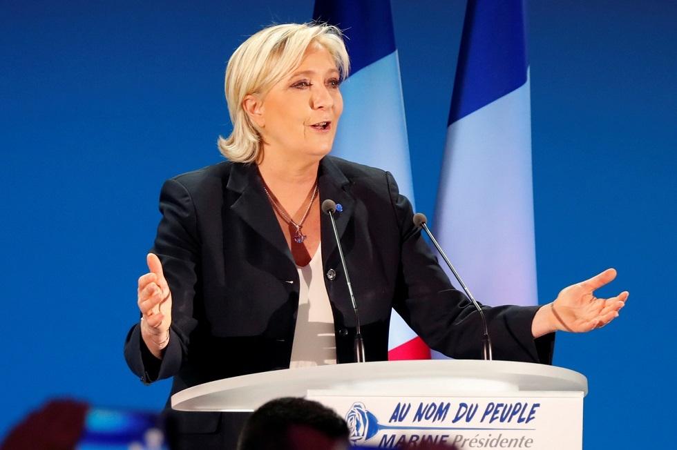 زعيمة اليمين الفرنسي مارين لوبان