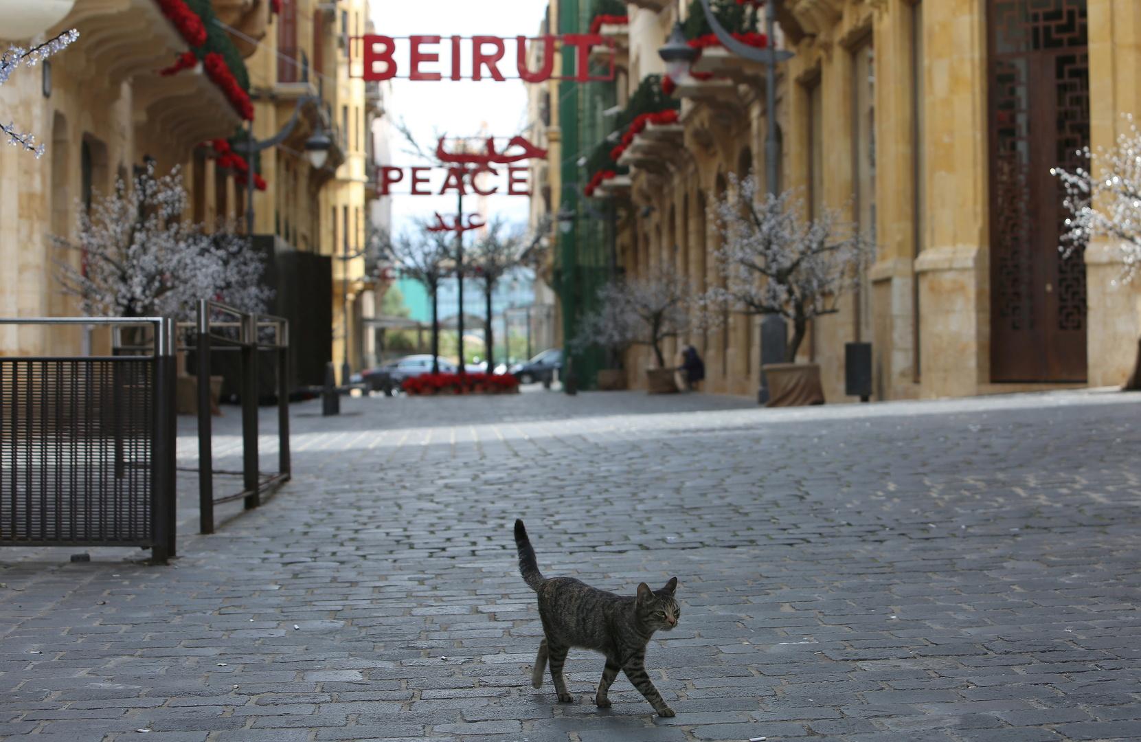 في شارع بالعاصمة اللبنانية بيروت هذا الأسبوع.