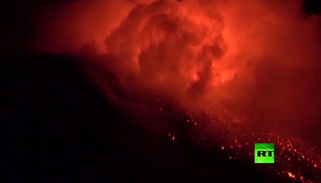 ثوران جديد لبركان إيتنا