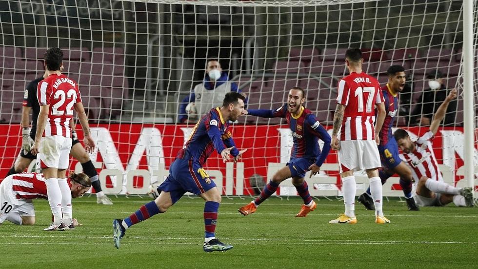 برشلونة يثأر من أتلتيك بيلباو ويخطف الوصافة من ريال مدريد (فيديو)