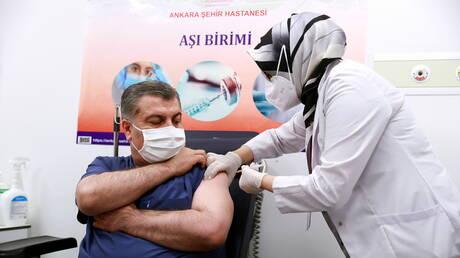 """تركيا توافق على """"الاستخدام الطارئ"""" للقاح الصيني ضد كورونا وتنوي بدء التطعيم الخميس"""