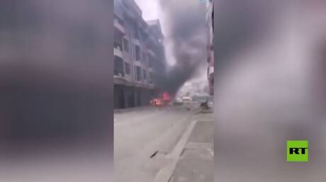 بالفيديو.. انفجار في خط للغاز بمدينة صينية