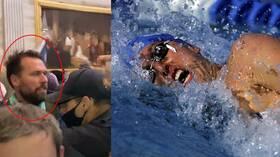 اتهام بطل أولمبي أمريكي باقتحام الكونغرس (فيديو)