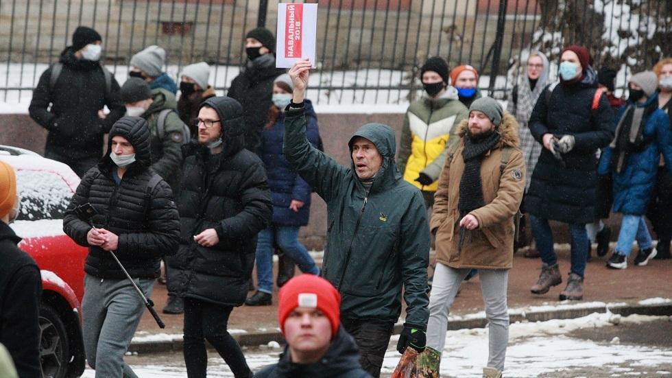 مئة تريليون متظاهر ضد بوتين يملؤون الشوارع الروسية