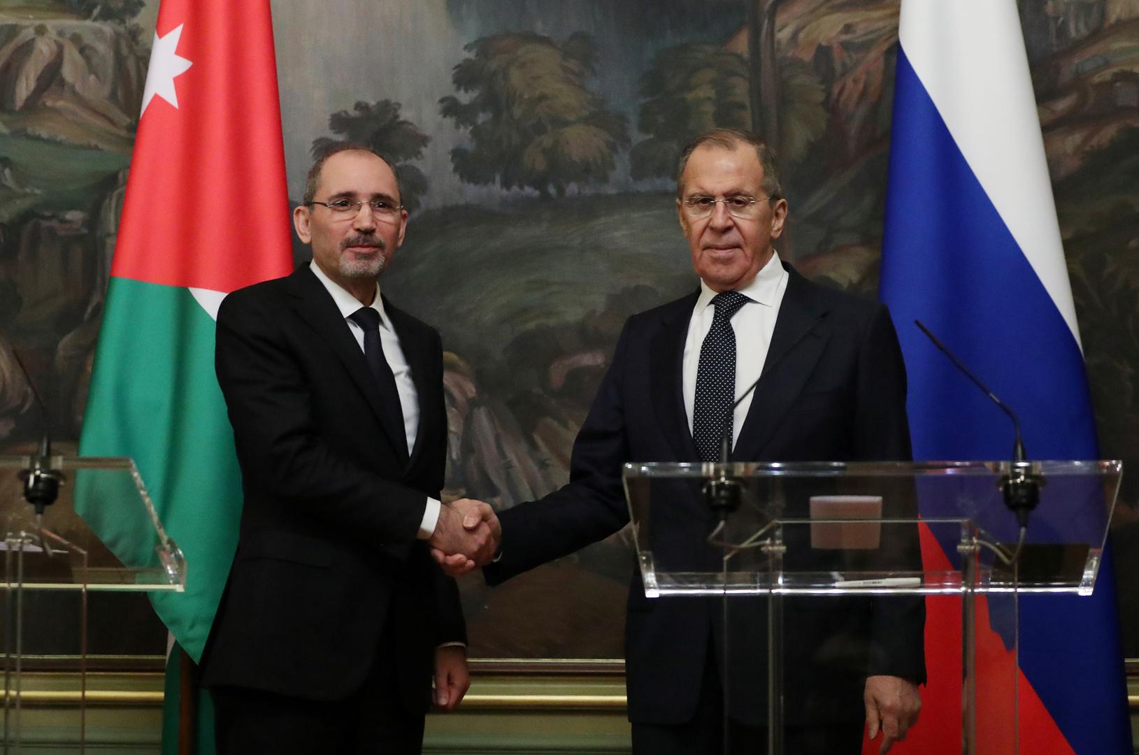 لقاء وزير الخارجية الروسي سيرغي لافروف، ونظيره الأردني أيمن الصفدي، أرشيف