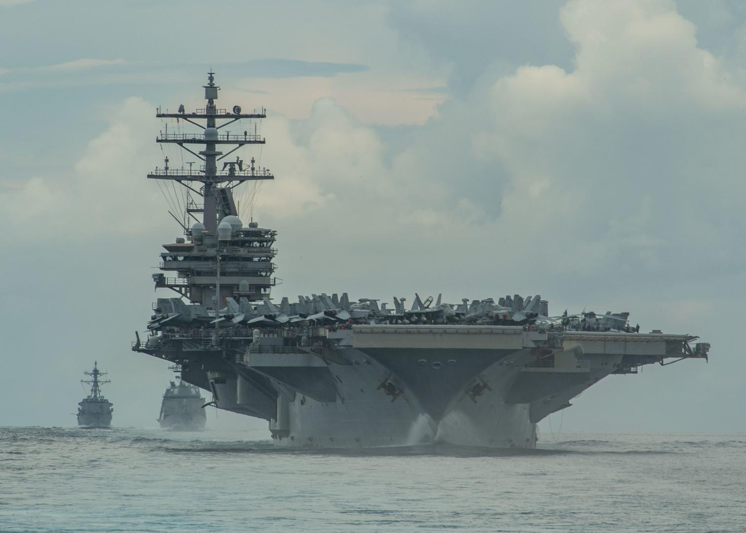 البحرية الأمريكية ترسل مدمرة صاروخية موجهة عبر مضيق تايوان