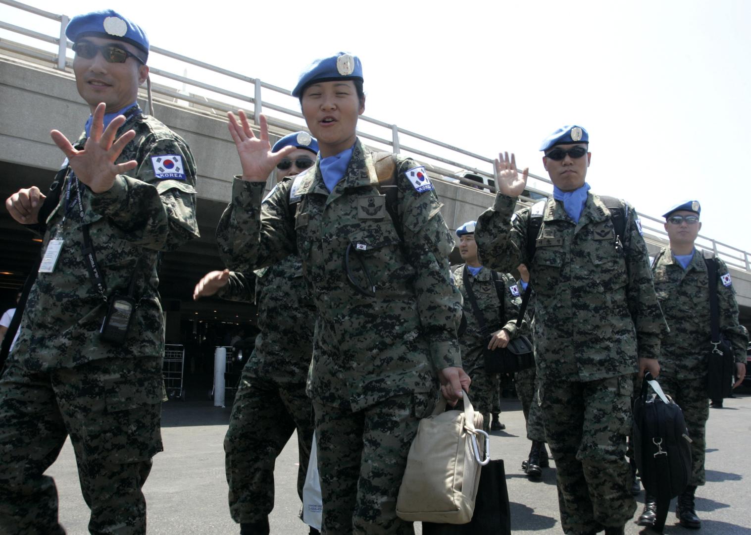 جنود كوريون جنوبيون من قوات حفظ السلام في لبنان