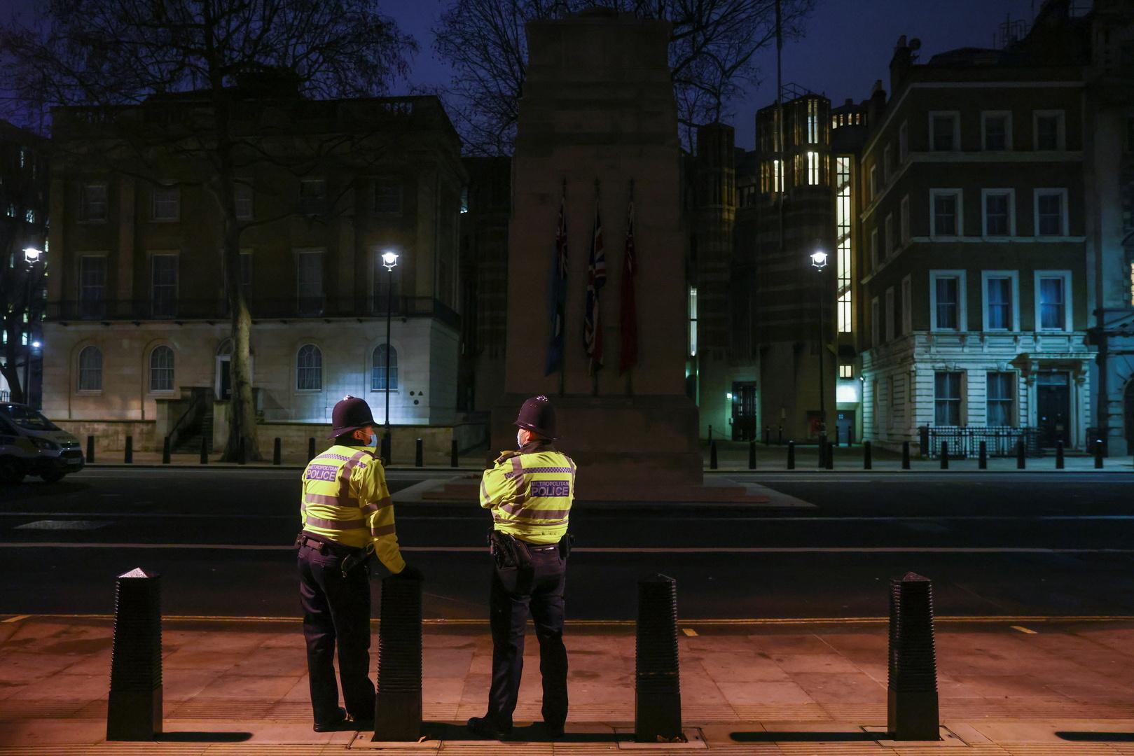 عنصران في الشرطة البريكطانية في لندن (أرشيف).