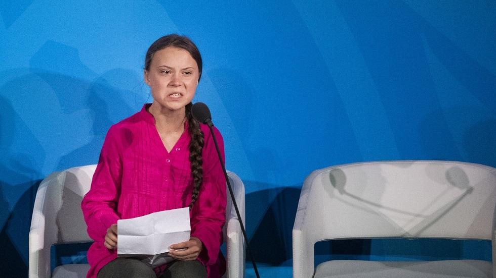 الناشطة السويدية/ غريتا تونبرغ