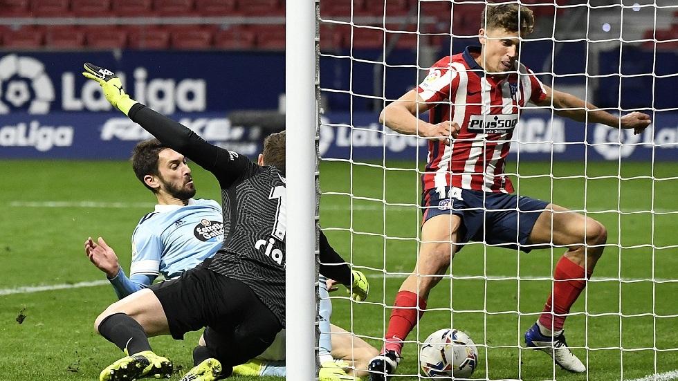 سيلتا فيغو يفرض التعادل على أتلتيكو مدريد في الوقت القاتل (فيديو)