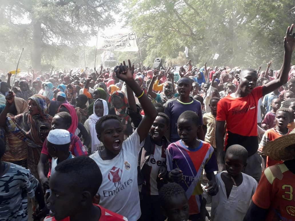 احتجاجات في إقليم دارفور في السودان في منتصف يناير الماضي.