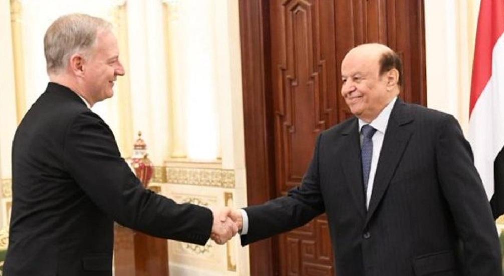 المبعوث الأمريكي يلتقي الرئيس اليمني