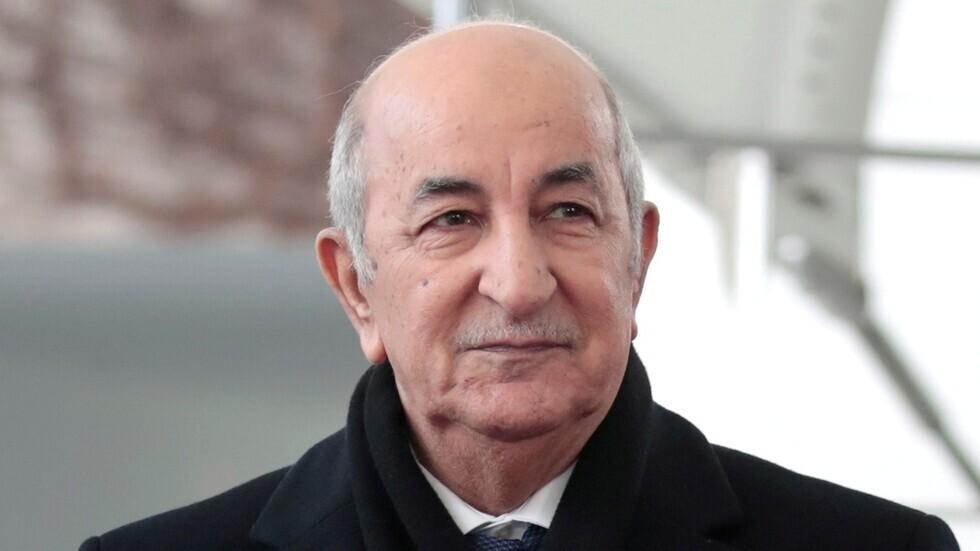 الرئيس الجزائري عبد العزيز تبون
