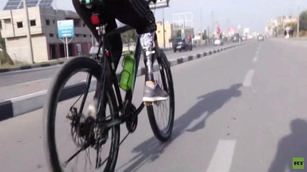 فريق دراجات لذوي الاحتياجات الخاصة بغزة