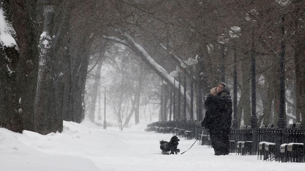 Snowfall in Moscow breaks a record half a century ago