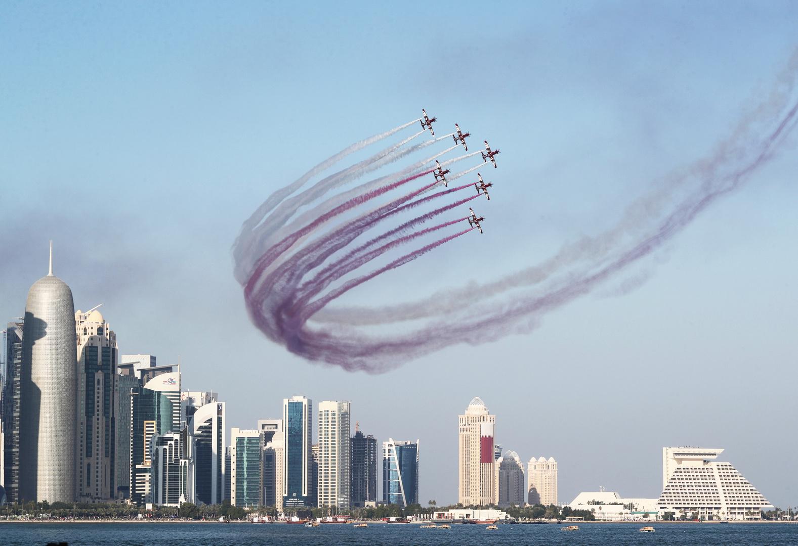 بالصور.. قطر تدشن سفينة حربية جديدة في إيطاليا