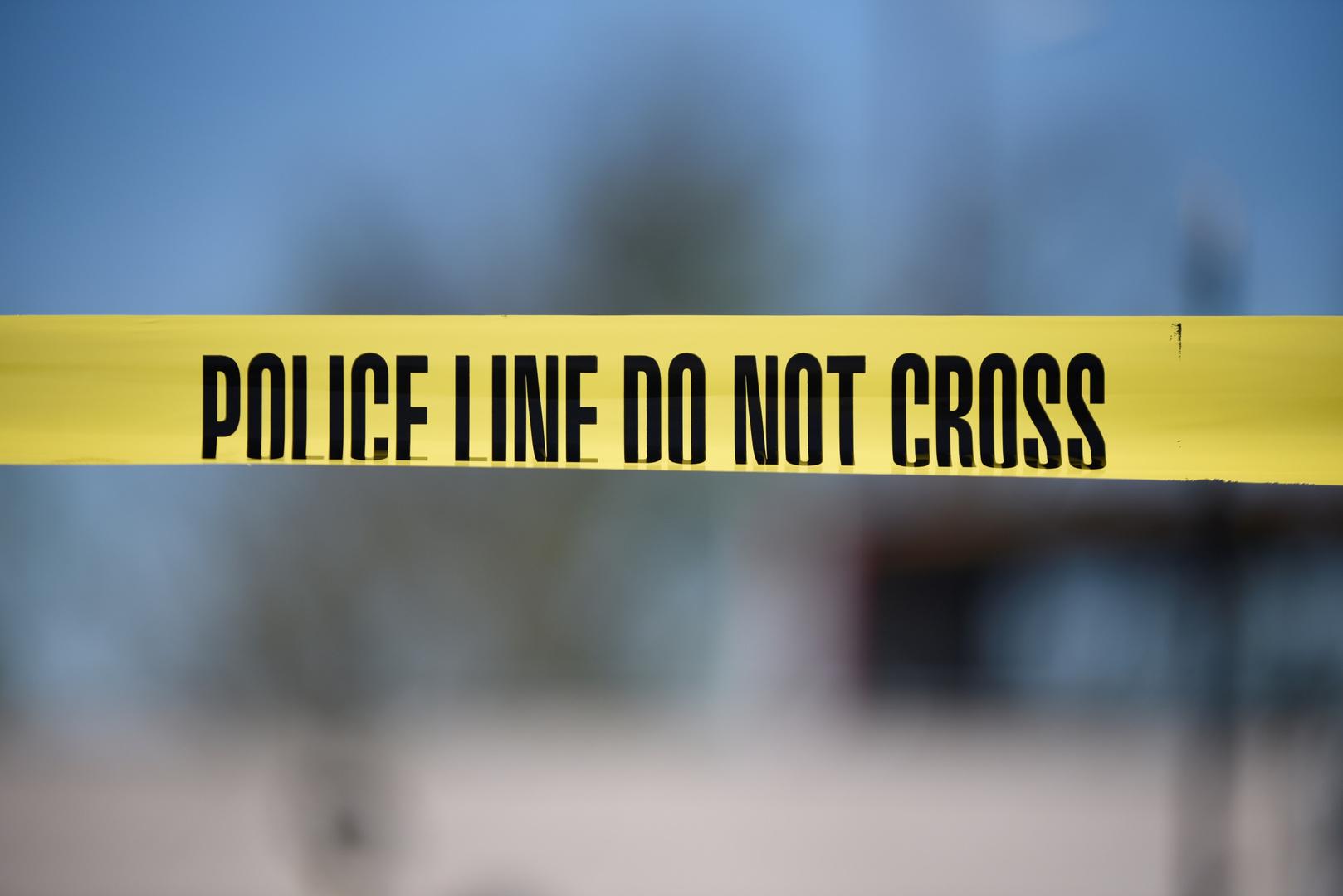 شريط لحماية مكان الجريمة