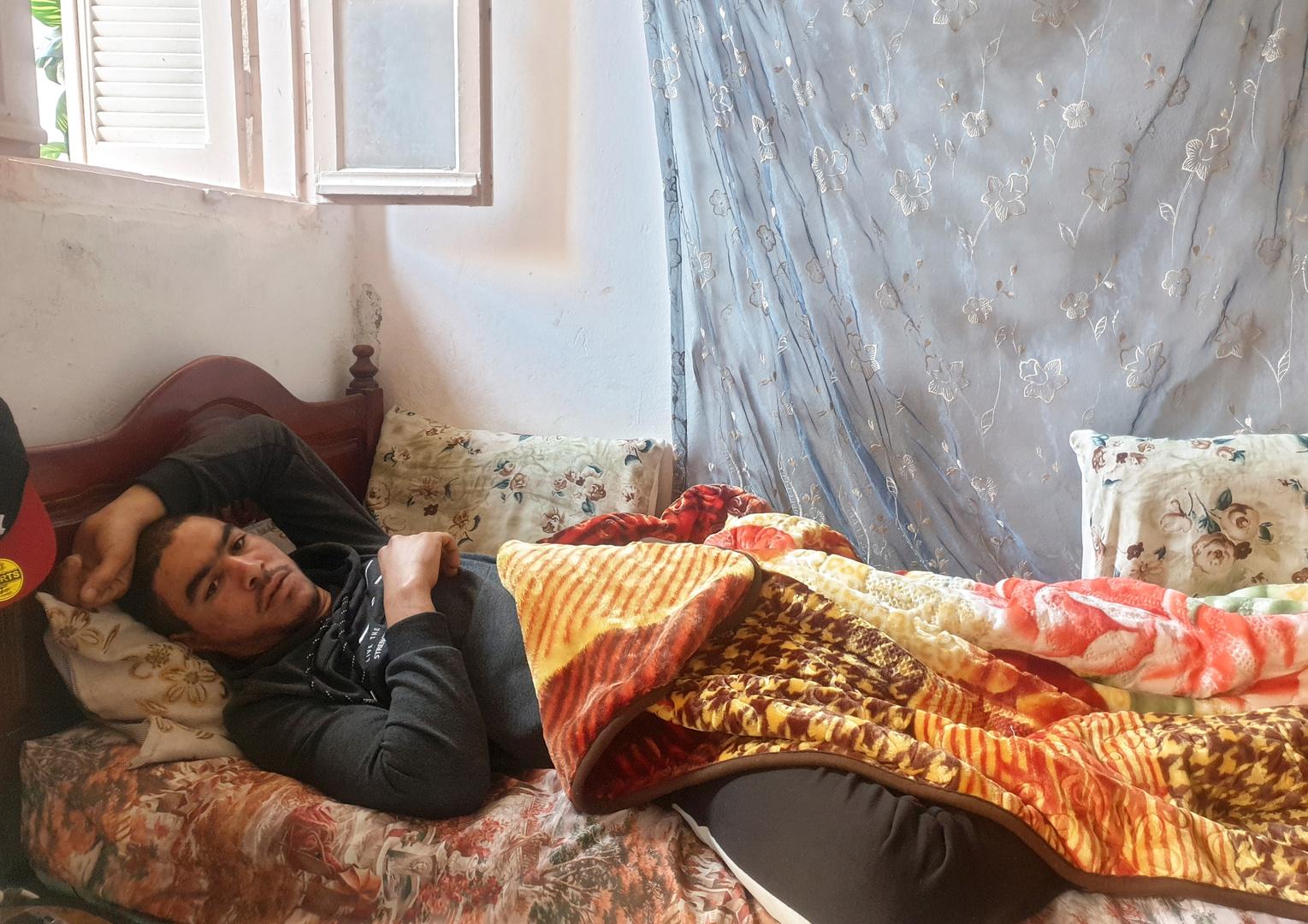 الشاب التونسي أحمد ضحية التعذيب المفترض من طرف الشرطة.