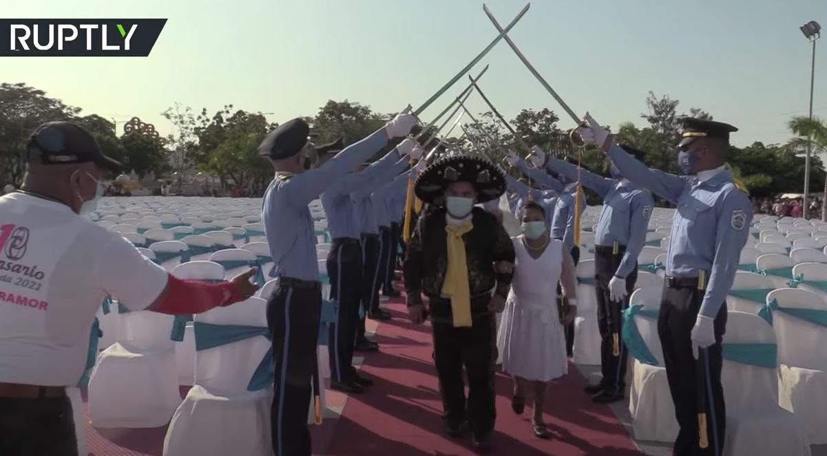 زواج جماعي في نيكاراغوا بمناسبة عيد الحب