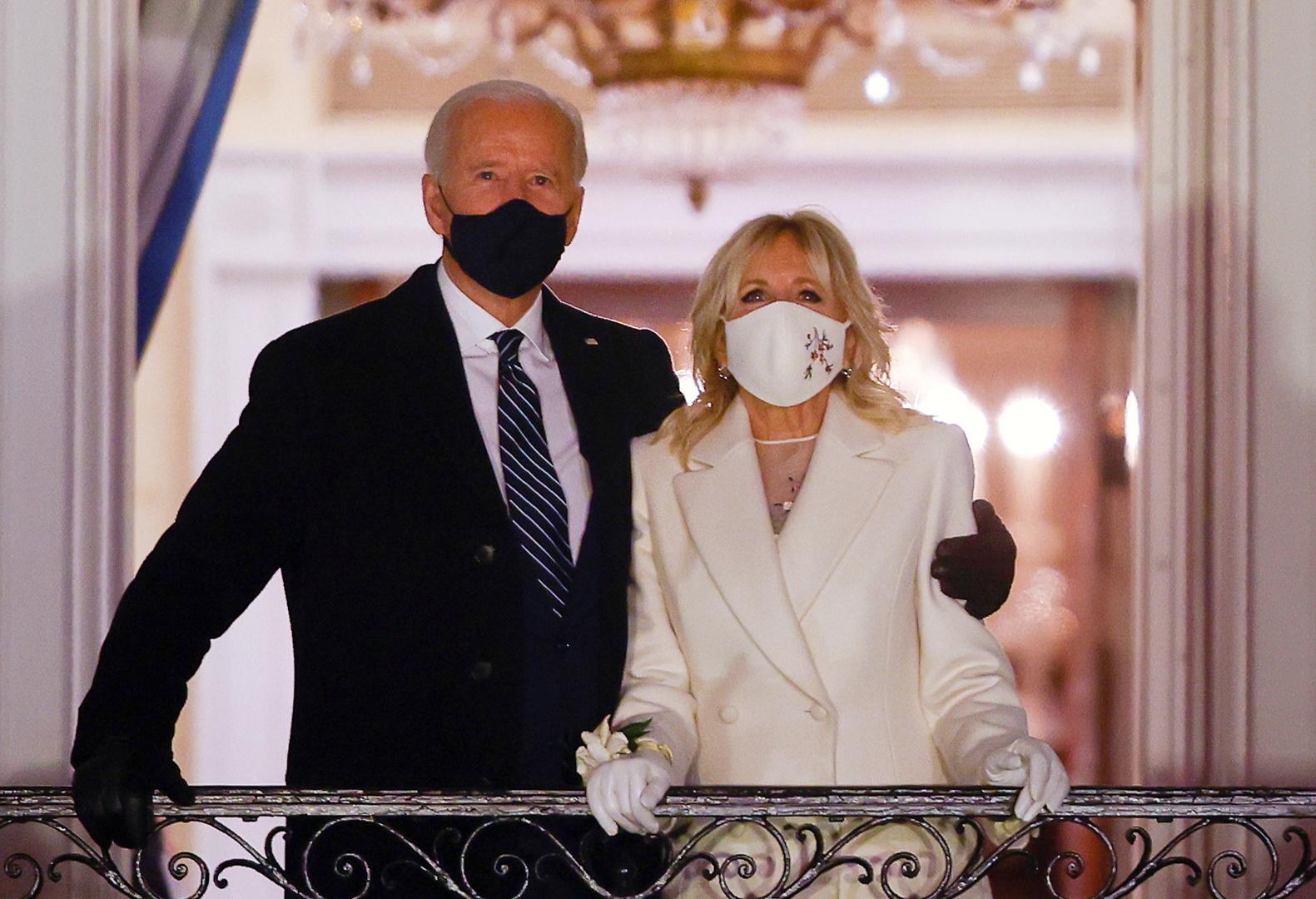 الرئيس الأمريكي الجديد، جو بايدن، وزوجته، جيل