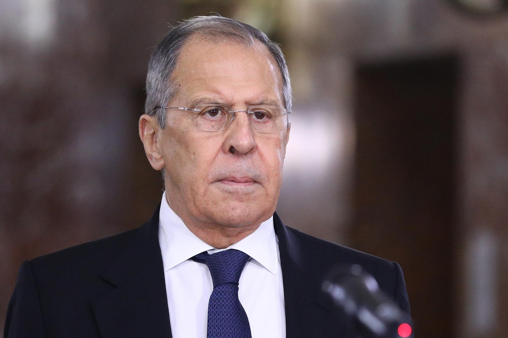وزير الخارجية الروسي، سيرغي لافروف