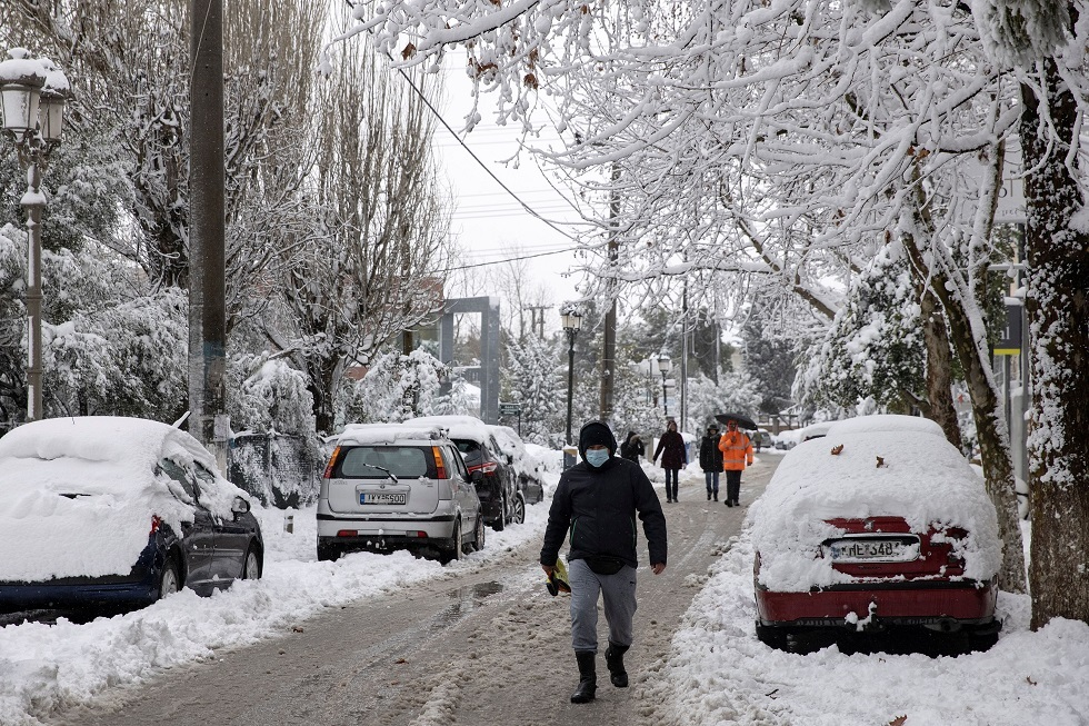 Greece is experiencing the heaviest snow in 12 years