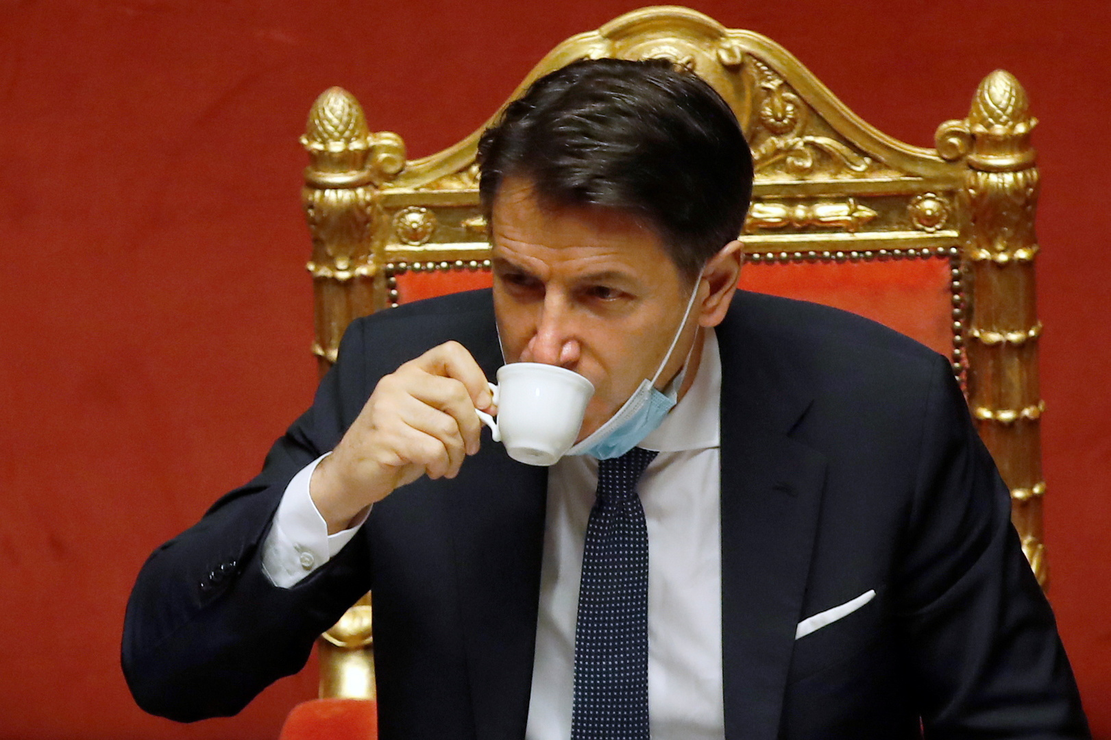 رئيس الوزراء الإيطالي السابق، جوزيبي كونتي