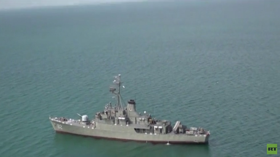 Russian-Iranian naval maneuvers in the Indian Ocean