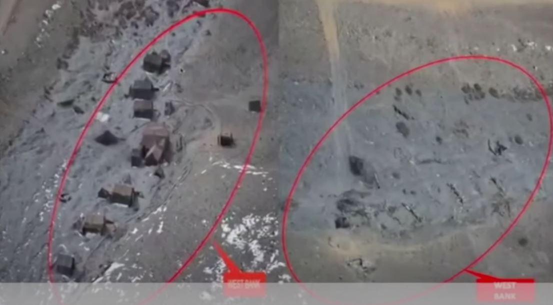 مشاهد لسحب القوات والمركبات الصينية والهندية من منطقة حدودية متنازع عليها