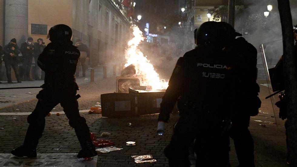 الاحتجاجات في إسبانيا