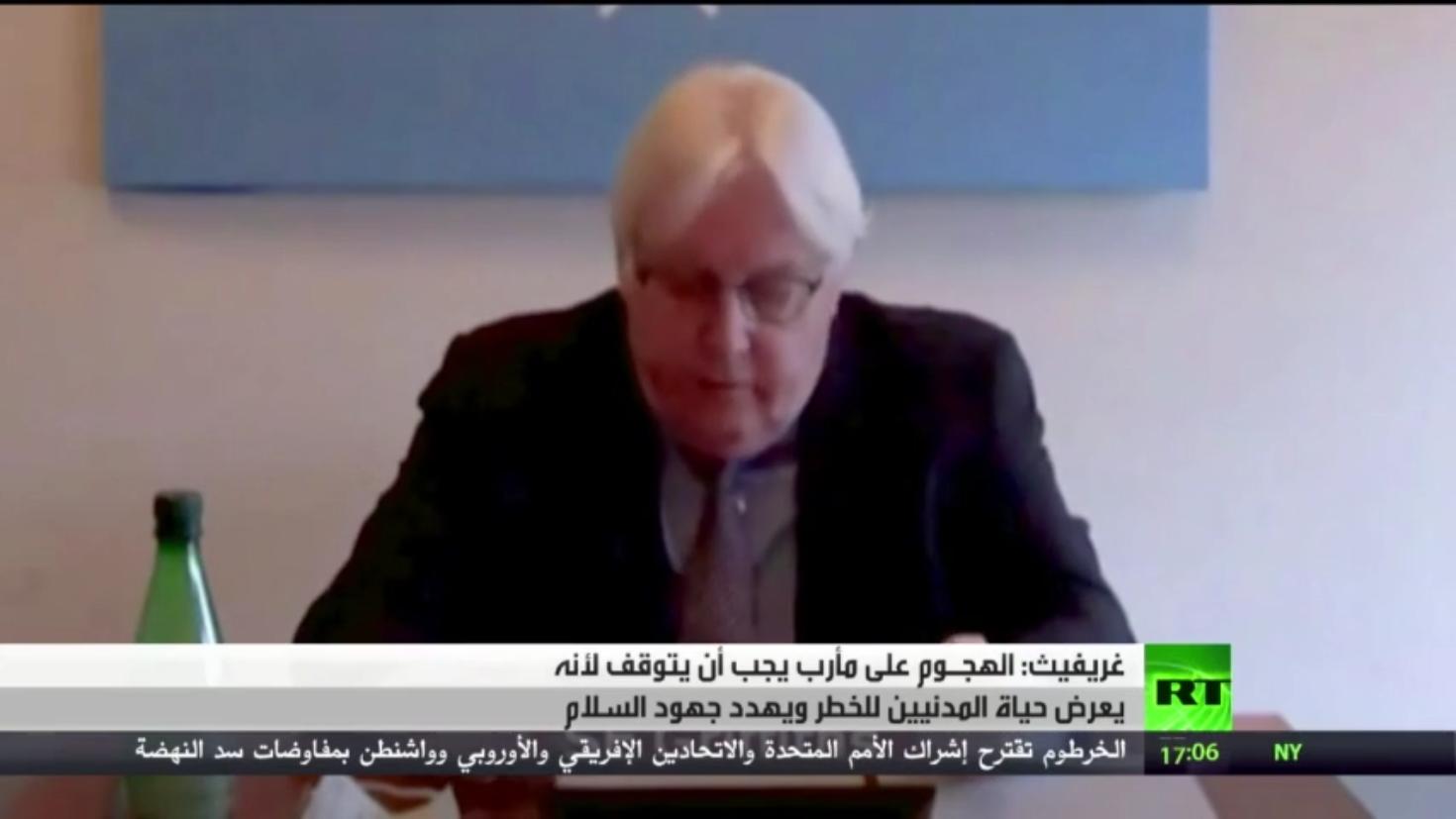 غريفيث يطالب الحوثيين بوقف الهجوم على مأرب