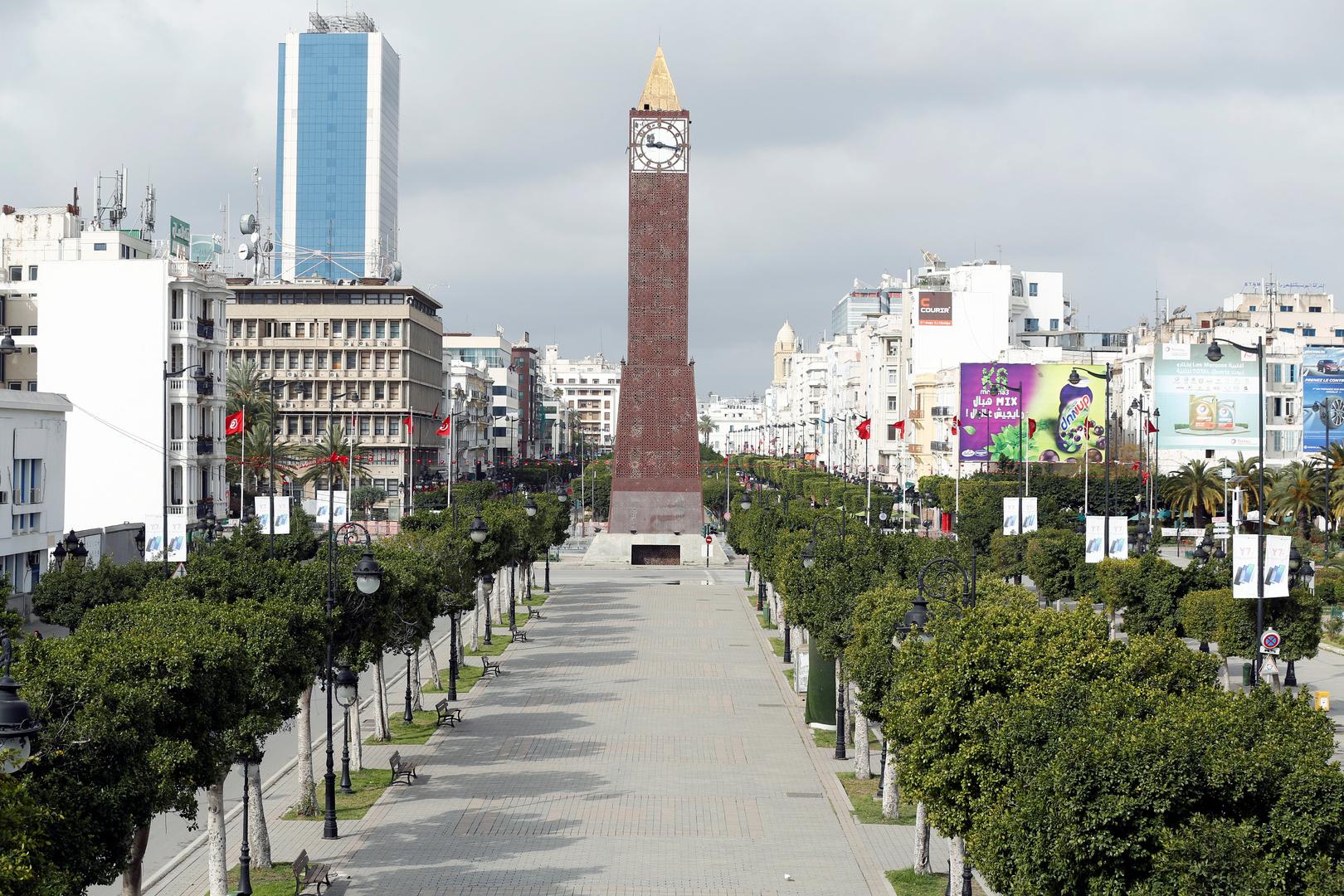 العاصمة تونس في ظل الوباء.