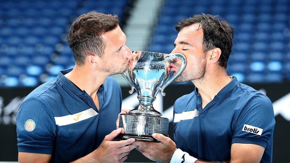 دوديغ وبولاسيك يحرزان لقب زوجي الرجال في أستراليا المفتوحة