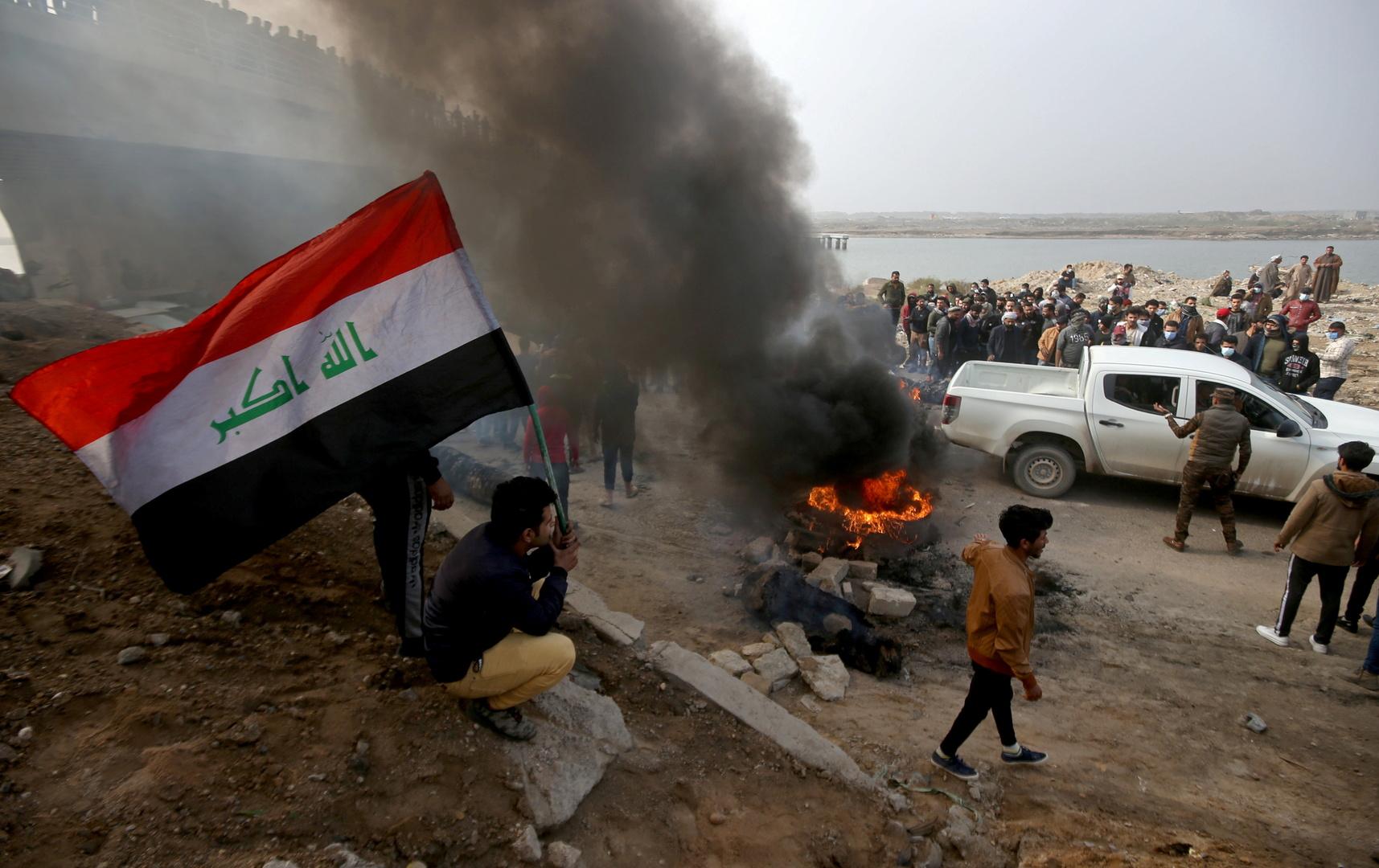 مقتل شخص وإصابة 31 آخرين خلال صدامات جنوبي العراق