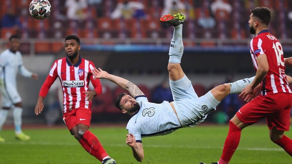 مقصية جيرو تمنح تشيلسي فوزا ثمينا على أتلتيكو مدريد في دوري الأبطال (فيديو)