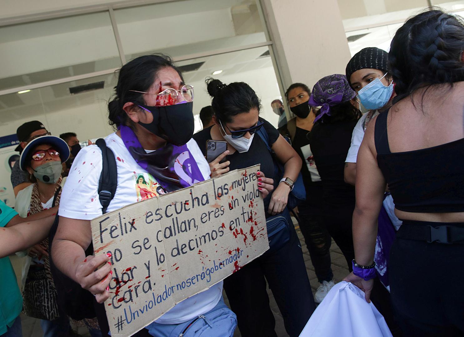 المكسيك.. اشتباكات بين محتجين إثر دعم الرئيس لمرشح متهم بالاغتصاب