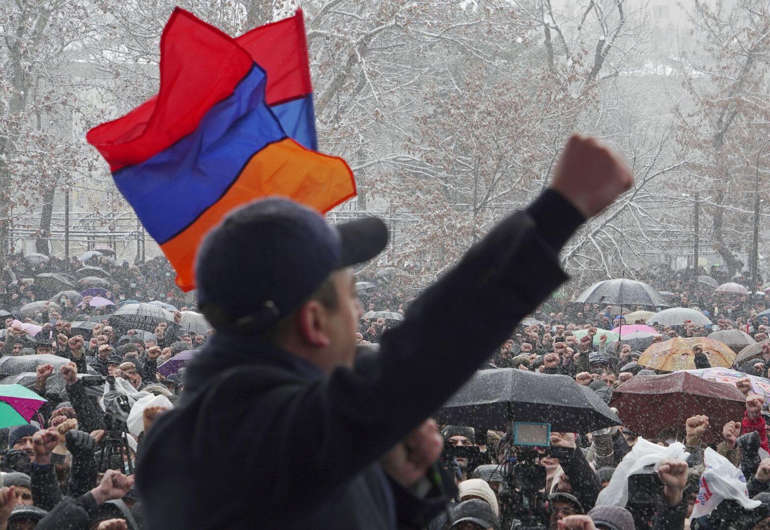 مظاهرة معارضة في يريفان