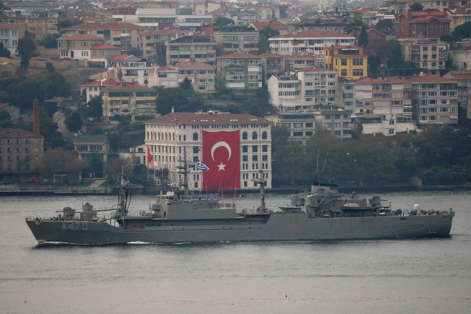 آلية بحرية تركية في البوسفور، صورة تعبيرية