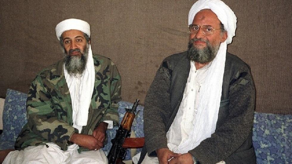 زعيما تنظيم القاعدة الإرهابي أسامة بن لادن وأيمن الظواهري - أرشيف