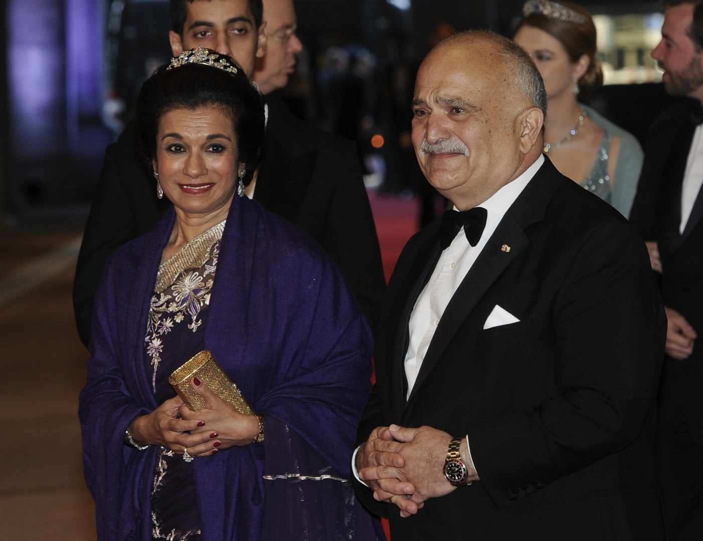 الأمير الحسن بن طلال وزوجته