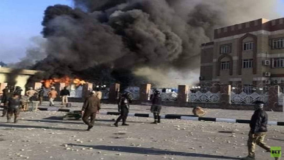 العراق.. مقتل متظاهرين اثنين وإصابة العشرات في اشتباكات مع القوات الأمنية في الناصرية