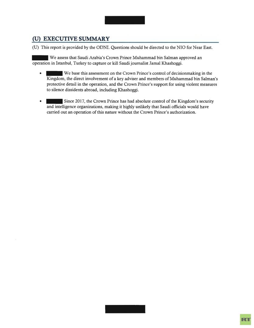 أصدرته إدارة بايدن.. تقرير الـ CIA يؤكد موافقة ولي العهد السعودي على اعتقال خاشقجي أو قتله (وثيقة)