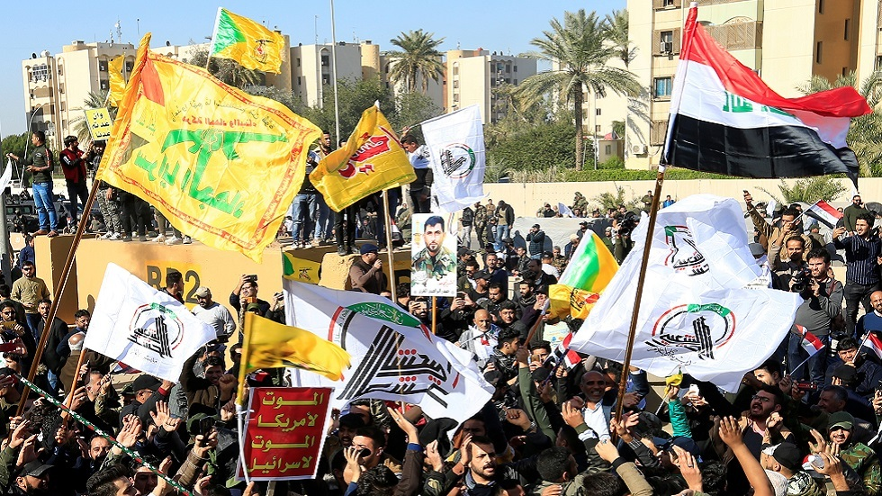 مظاهرة مناهضة لأمريكا في بغداد (صورة أرشيفية)