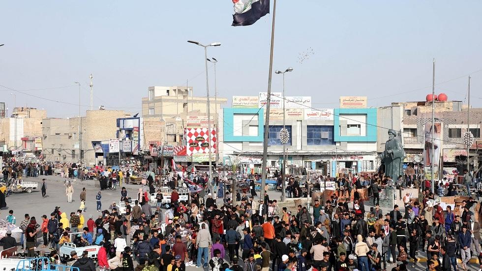 الاحتجاجات في مدينة الناصرية بمحافظة ذي قار جنوبي العراق