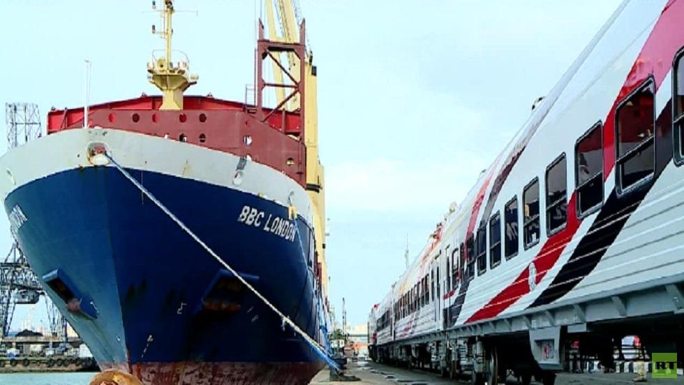 وصول شحنة جديدة من القطارات إلى مصر