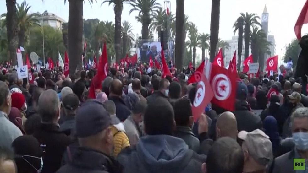 تظاهرات داعمة ومناوئة لحركة النهضة في تونس