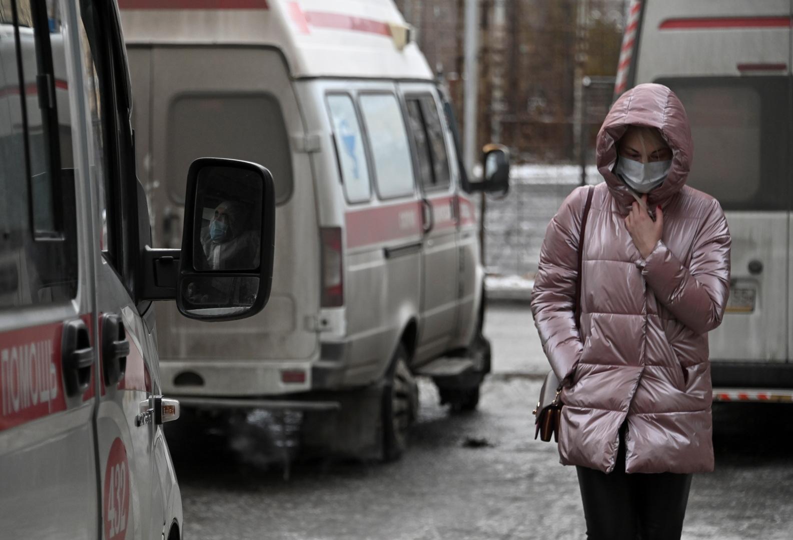 روسيا.. حصيلة الإصابات الشهرية بكورونا تتراجع بـ40%
