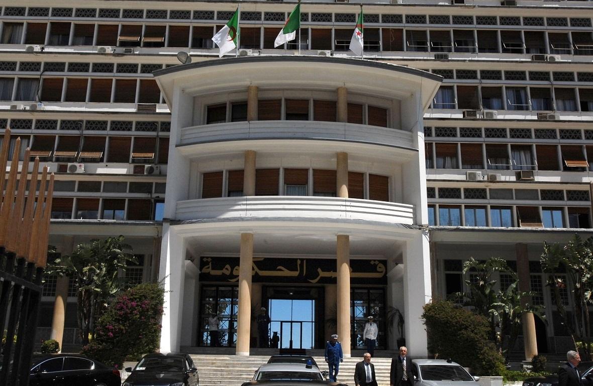 قصر الحكومة في العاصمة الجزائر.